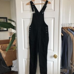 Denim - black overalls
